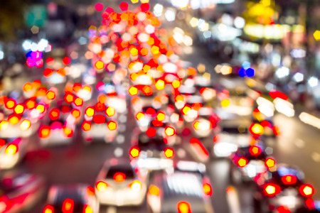 multiple lane highway: light traffic on street in The city lights Motion blur and Abstract background bokeh