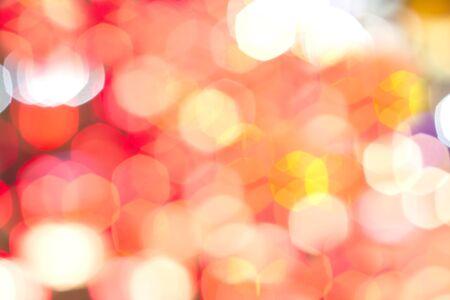 light circular: light circular defocused reflections of Christmas lights blurred background and bokeh