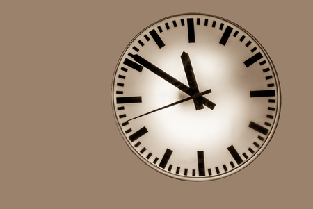 expires: Time is running to change on isolated background