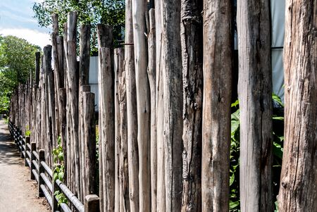 rural areas: wooden fences background in home rural areas