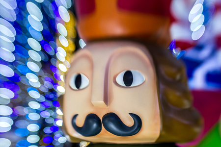 Christmas lights bokeh abstract background