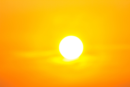 Heatwave hot sun. makes heat stroke