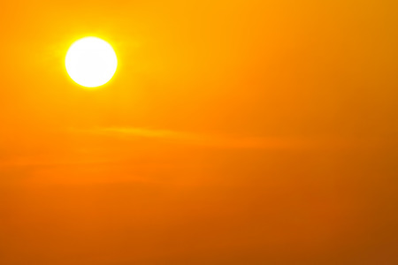 Global warming from the sun and burning, heat wave hot sun, climate change Stock Photo