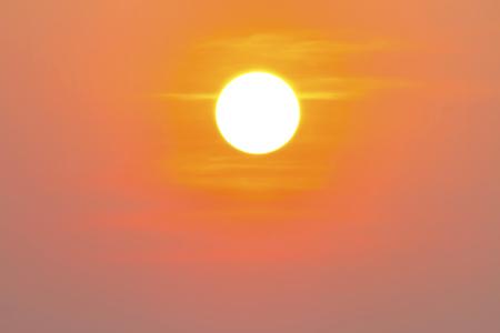 Heat wave hot sun, Climate change, makes heat Stroke Stock Photo