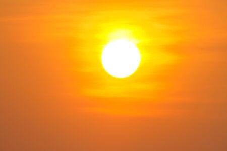 Global warming from the sun and burning, heatwave hot sun, climate change, Heatwave hot sun, makes heat stroke