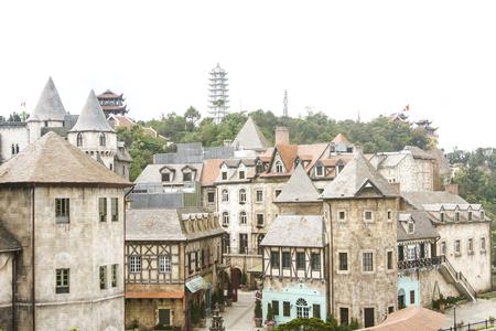 Bana hills, beautiful french village in Da nang, Vietnam Editorial