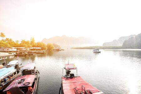 Beauty of the landscape in the morning of Krabi, Thailand