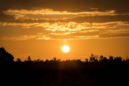 Heatwave hot sun, Climate change, Global warming from sun and burning Stock Photo