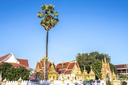 Temple in Nakhon Phanom is near the banks of the Mekong river, of North East Thailand
