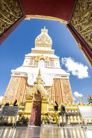 Wat Phra That Phanom is near the banks of the Mekong river in Nakhon Phanom province temples of North East Thailand Stock fotó