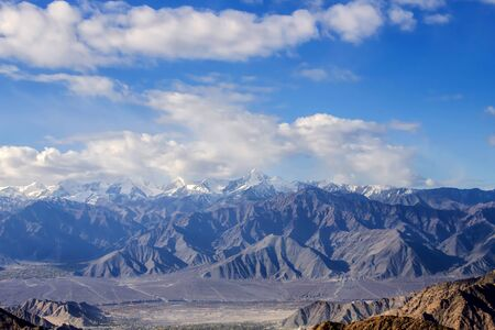 Leh Ladakh, beautiful landscape, Himalayas mountain range and Snow and cloudy in Ladakh region state of Jammu and Kashmir, Northern part of India