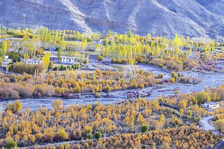 Autumn, Beautiful Landscape in Leh City, Ladakh region, India