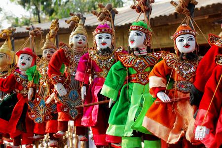 marioneta de madera: puppetry , Puppet Myanmar , Ancient wooden Myanmar , Myanmar wooden puppet.