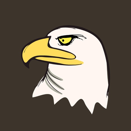 Bald Eagle in profile illustration Vector