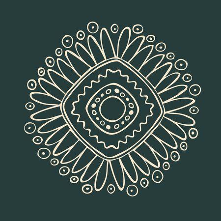 American indian circle ornament illustration Vector