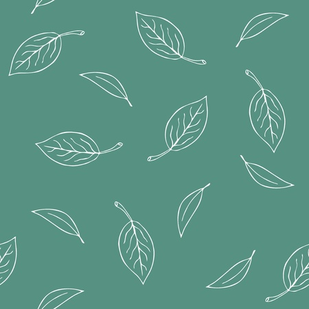 Seamless leaves pattern illustration Vector