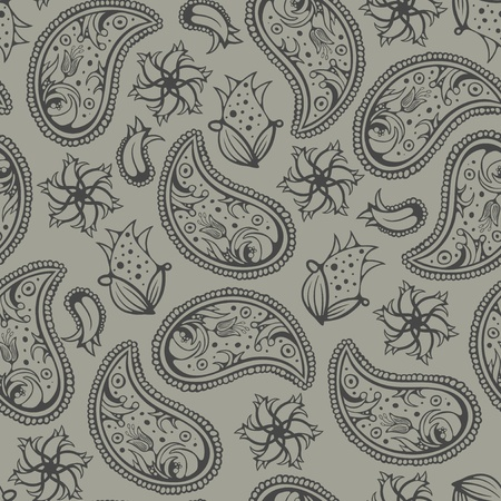 drapery:  Seamless background texture, paisley ornament, modern vector pattern