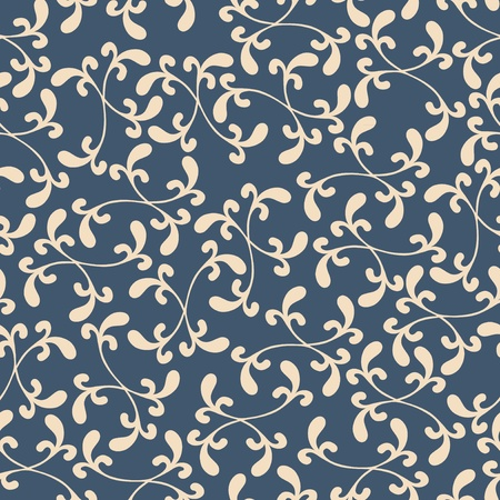 Seamless background texture with floral ornament, vector pattern Illustration