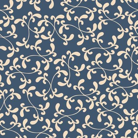 tile able: Seamless texture di sfondo con ornamento floreale, modello vettoriale