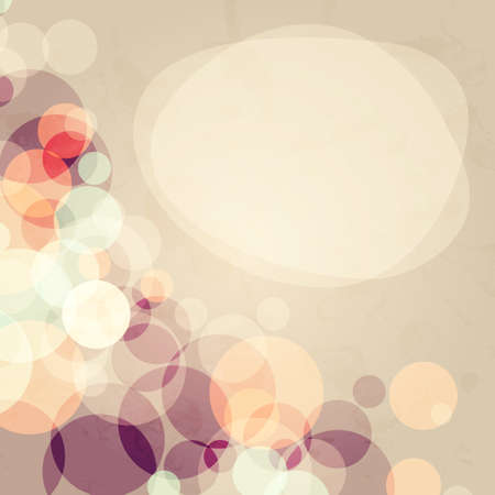 Abstract background with many circles with grunge old effect, vector illustration Stock Vector - 14776952
