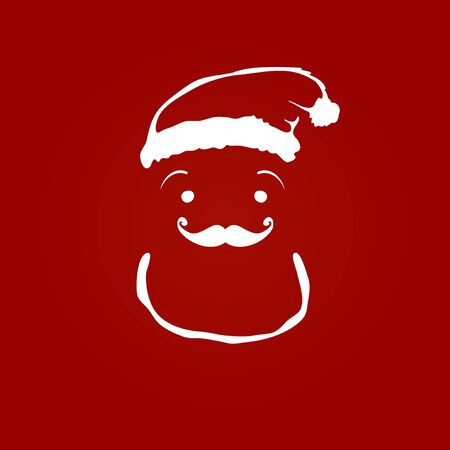 Santa claus contour silhouette on red background Stock Vector - 14776942