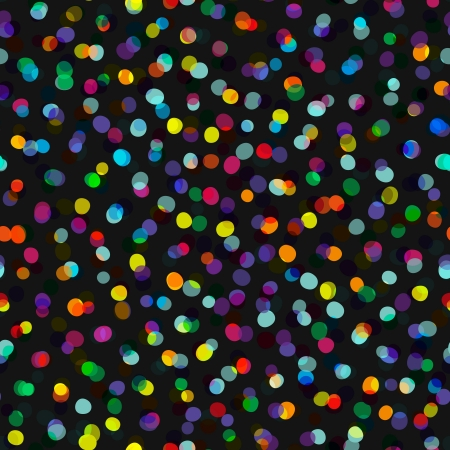 Seamless background with many bright ellipses looks like confetti, vector pattern