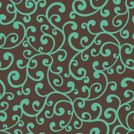 Seamless floral background pattern, vector illustration Illustration