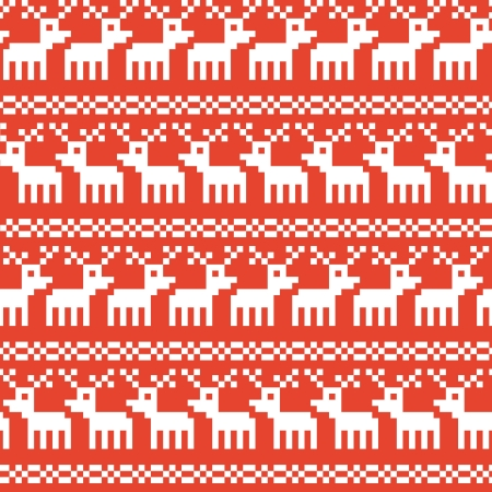 Seamless background texture on Christmas theme with deers, vector