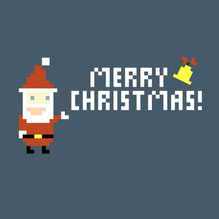 Pixel Santa Claus background, vector Stock Vector - 16297730