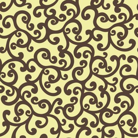Seamless floral background pattern, vector illustration