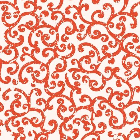 tile able: Seamless floral background con effetto grunge sul livello diverso, modello vettoriale