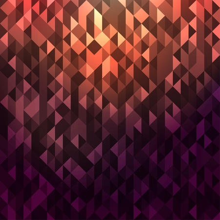 Abstract background with purple glowing triangles