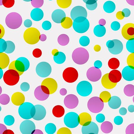 Seamless background with many bright ellipses looks like confetti