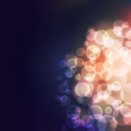 Abstract background with defocused bokeh bubble lights