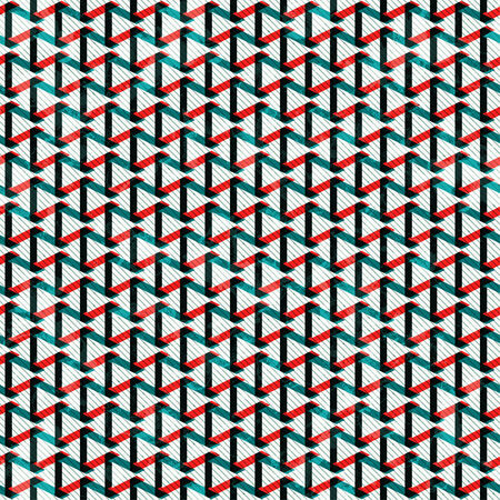 Retro pattern with many lines and triangles, vector illustration Illustration