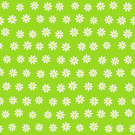 daisie: Seamless floral background con molti piccoli fiori DAISIE, illustrazione vettoriale