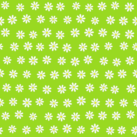 daisie: Seamless floral background with many tiny daisie flowers, vector illustration