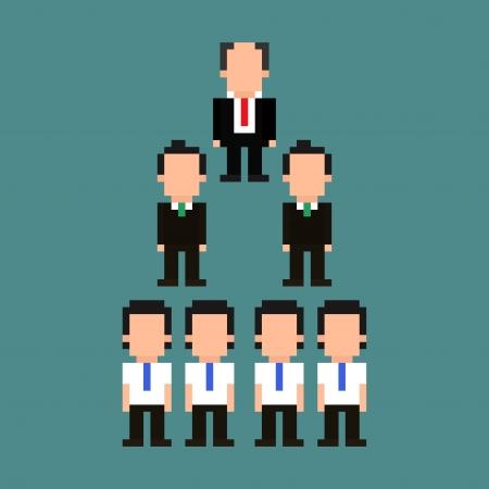 piramide humana: Pirámide de jerarquía de la oficina técnica del pixel