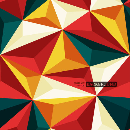 geometric patterns: Seamless background with relief triangles Illustration