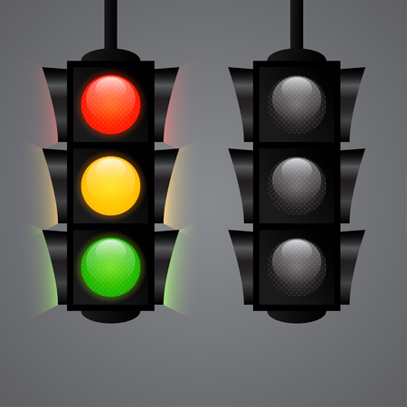 Traffic Light realistic vector icon isolated Vector