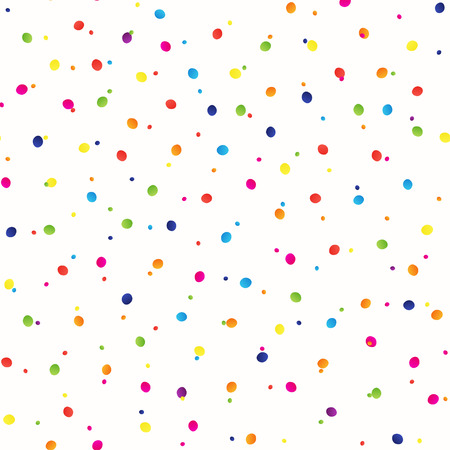 Seamless background with many tiny bright round pieces, vector illustration