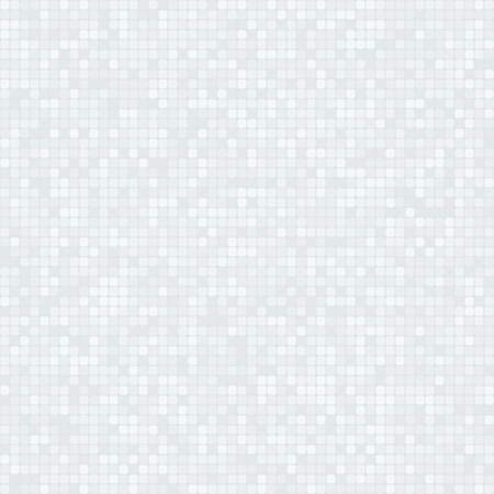Monochrome pixelated background with many rounded squares