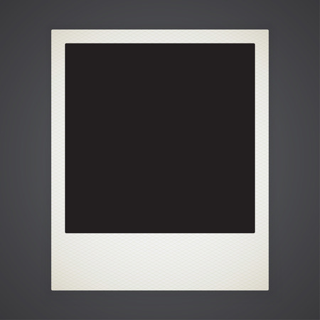 Retro photo frame isolated with shadow Vector