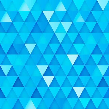 Background with relief blue triangles