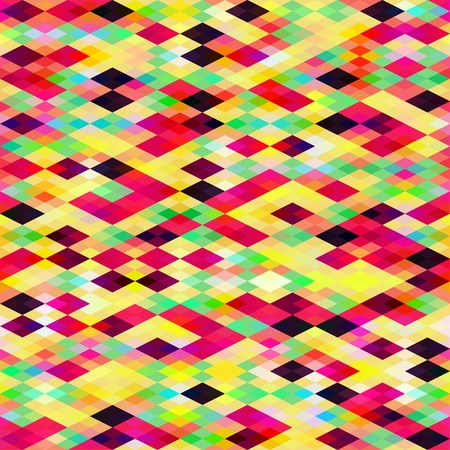 Seamless geometric bright background with foursquares