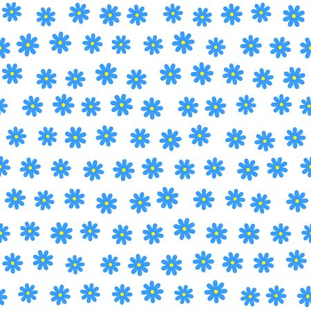 daisie: Seamless floral background with many tiny blue daisie flowers