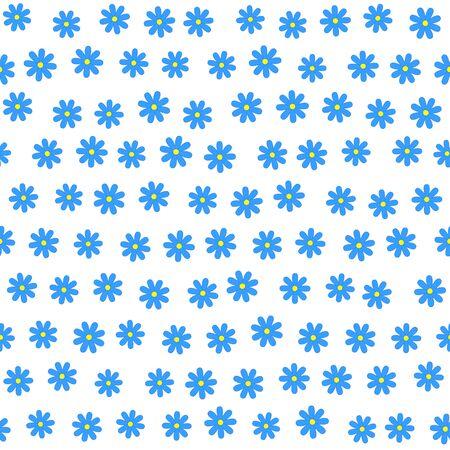 daisie: Seamless floreale con molti piccoli fiori blu DAISIE