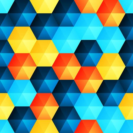 wit: Seamless background wit relief plastic hexagons