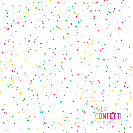 Abstract background with many falling tiny confetti pieces