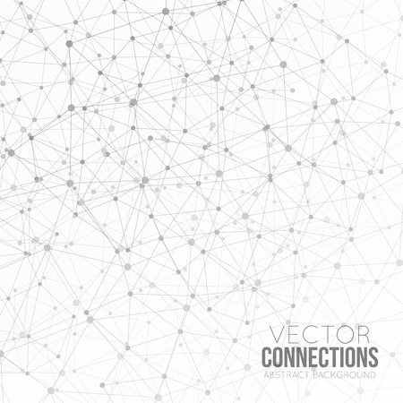 Dots with connections, triangles light background Фото со стока - 36807441